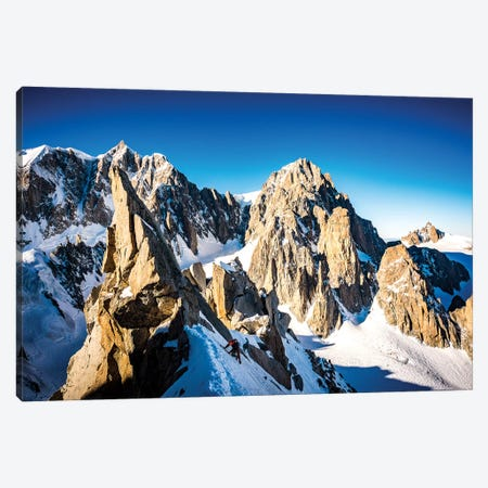 A Climber On The North Face Of Tour Ronde, Chamonix, France - II Canvas Print #ALX73} by Alex Buisse Canvas Wall Art
