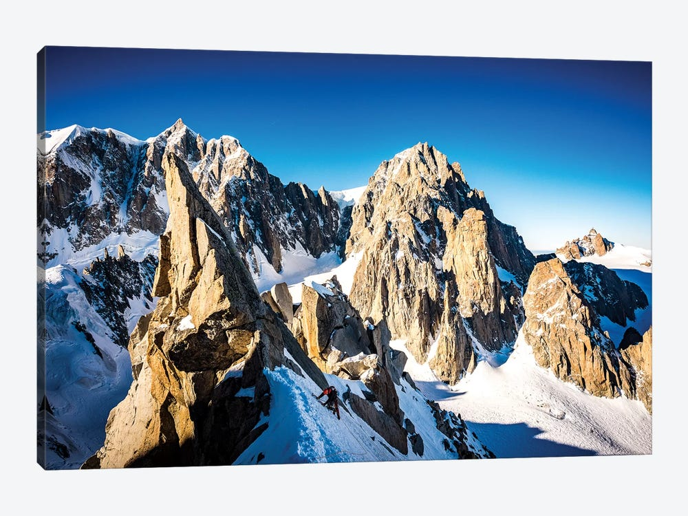 A Climber On The North Face Of Tour Ronde, Chamonix, France - II by Alex Buisse 1-piece Art Print