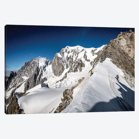 A Climber On The East Face Of Tour Ronde, Chamonix, France Canvas Print #ALX74} by Alex Buisse Canvas Art Print