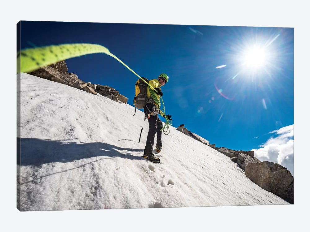 A Climber On Tour Ronde, Chamonix, France - I by Alex Buisse 1-piece Art Print