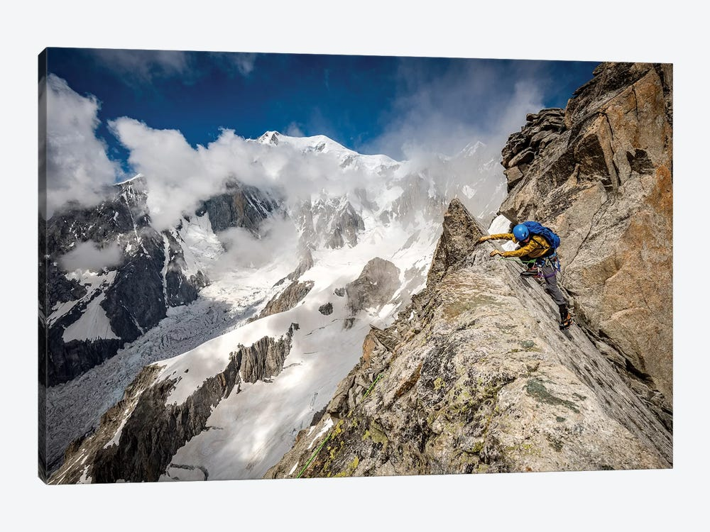 A Climber On Tour Ronde, Chamonix, France - II by Alex Buisse 1-piece Canvas Art