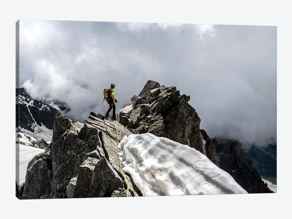 A Climber On Tour Ronde, Chamonix, France - III by Alex Buisse 1-piece Art Print