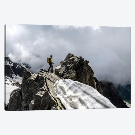 A Climber On Tour Ronde, Chamonix, France - III Canvas Print #ALX77} by Alex Buisse Canvas Print