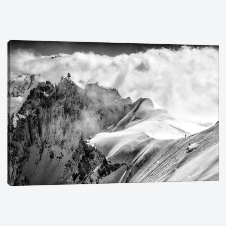 A Skier On The Midi-Plan Ridge, Chamonix, France Canvas Print #ALX79} by Alex Buisse Canvas Art