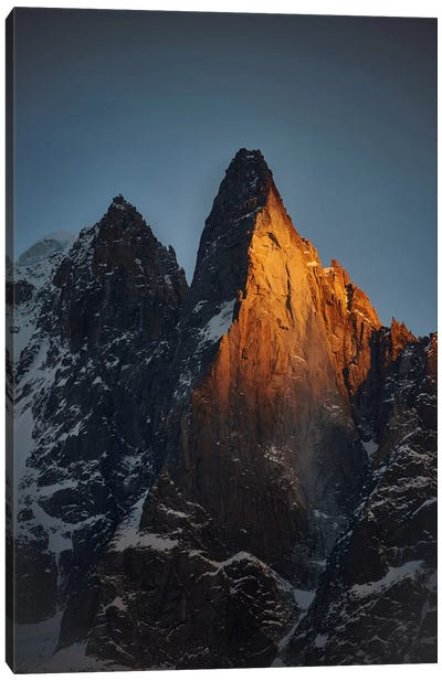 Aiguille des Drus, Chamonix, Haute-Savoie, Auvergne-Rhone-Alpes, France Canvas Art Print