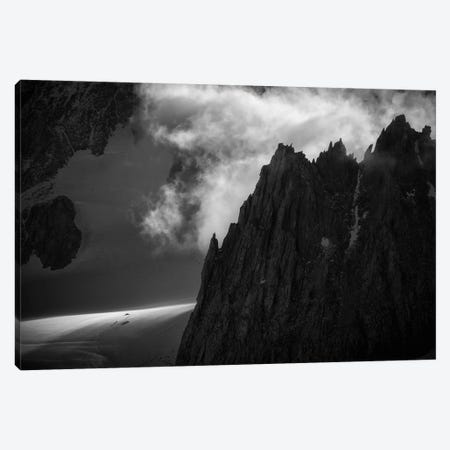 A Climber's Tent Below Aiguilles Marbrées, Chamonix, France Canvas Print #ALX82} by Alex Buisse Art Print