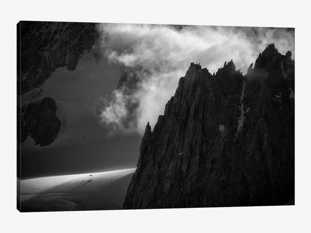 A Climber's Tent Below Aiguilles Marbrées, Chamonix, France by Alex Buisse 1-piece Art Print