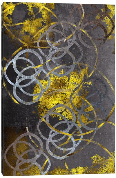 Gold Etchings Canvas Art Print
