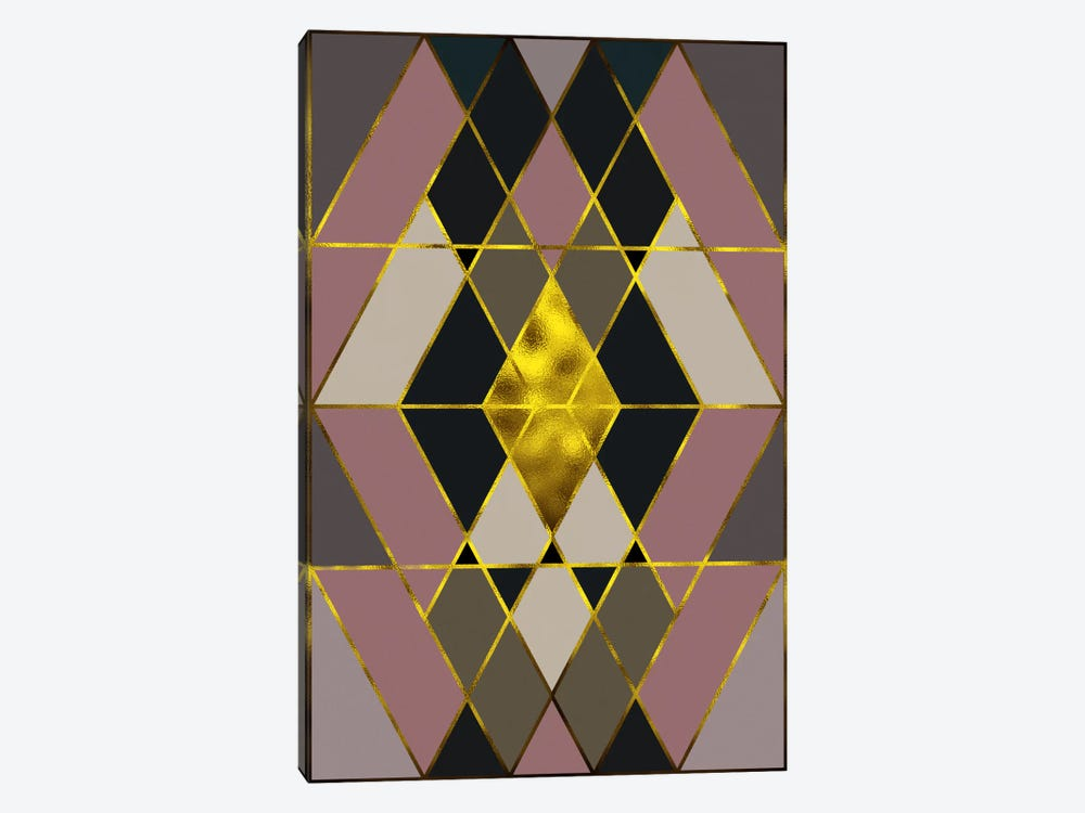 Trinity Gold by 5by5collective 1-piece Canvas Art