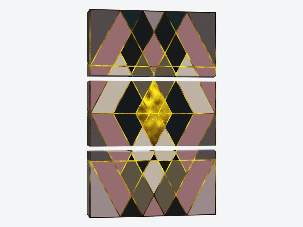 Trinity Gold by 5by5collective 3-piece Canvas Artwork