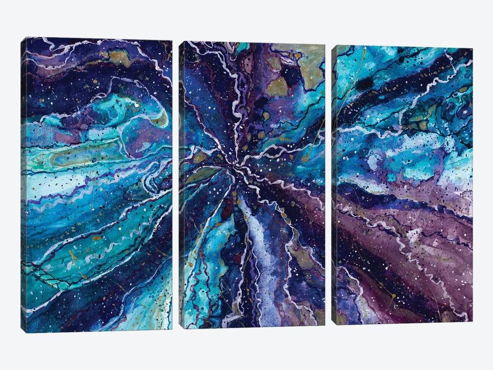 Deep Galaxy by Amaya Bucheli 3-piece Art Print