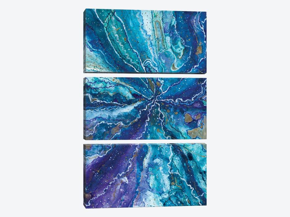 Galactical Blues by Amaya Bucheli 3-piece Canvas Art