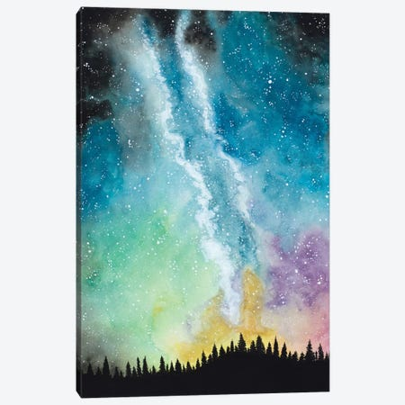 Magical Night Sky Canvas Print #AMB3} by Amaya Bucheli Art Print