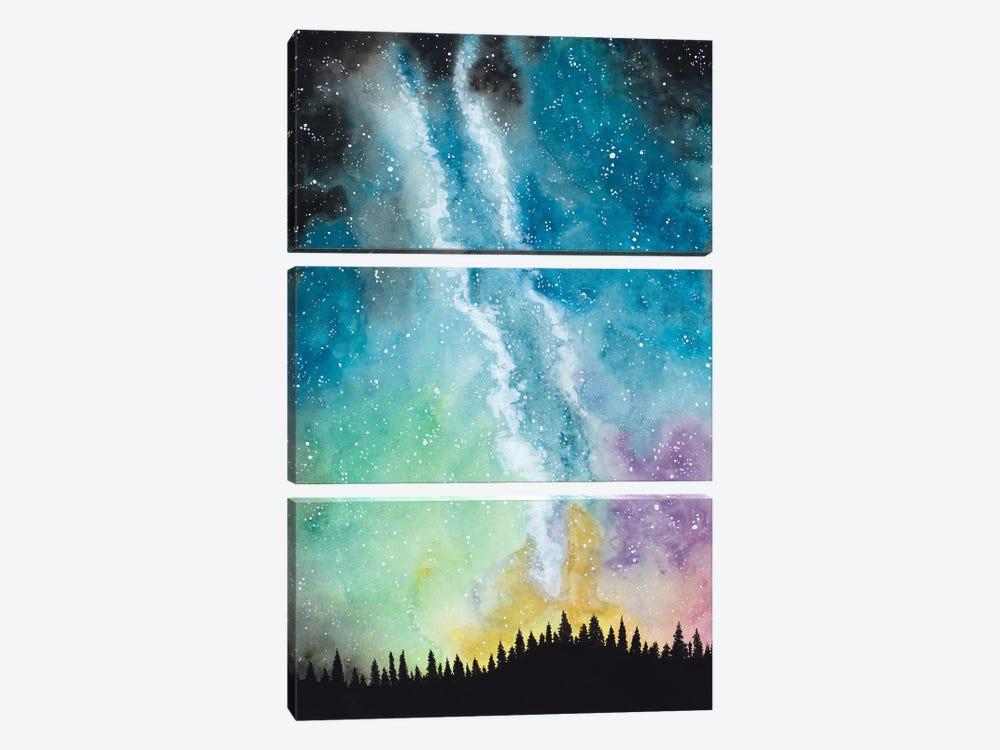 Magical Night Sky by Amaya Bucheli 3-piece Canvas Print