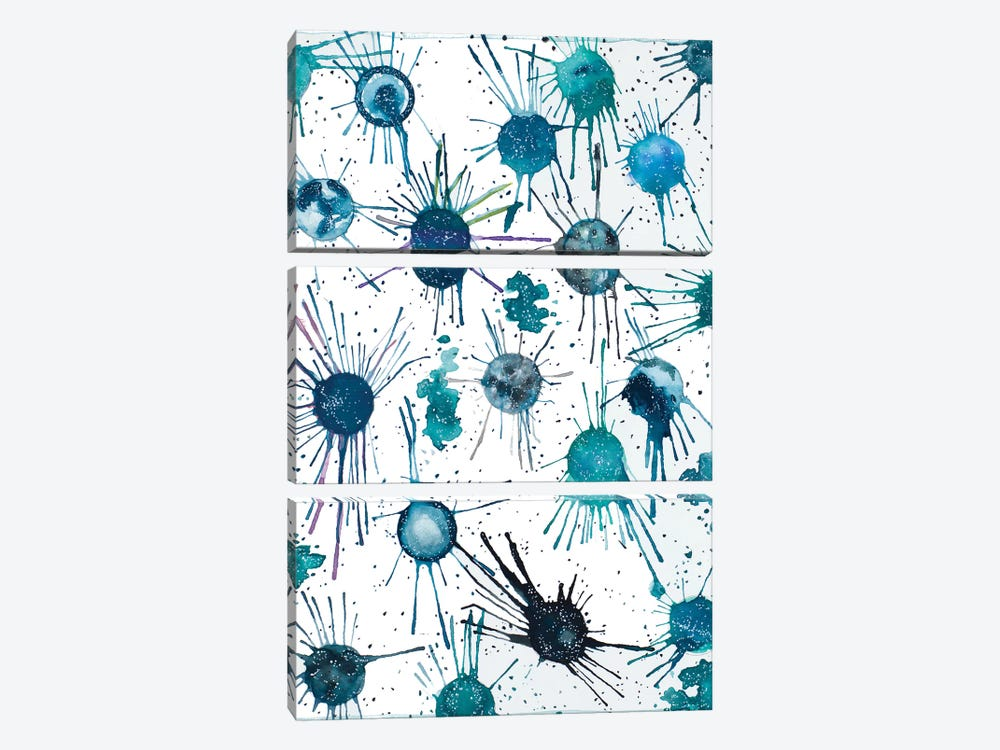 Splattered Moons 3-piece Canvas Print
