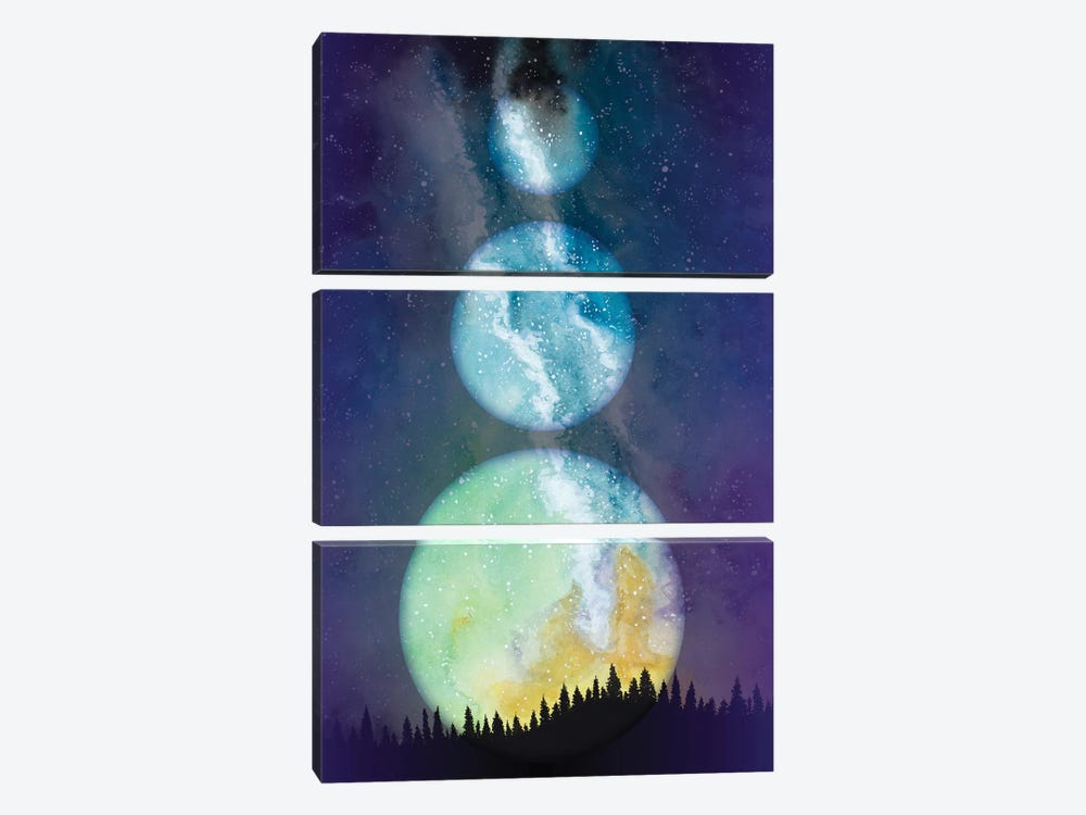 Within Space by Amaya Bucheli 3-piece Canvas Print
