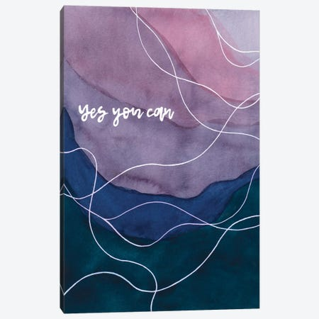 Yes You Can Canvas Print #AMB9} by Amaya Bucheli Canvas Art Print
