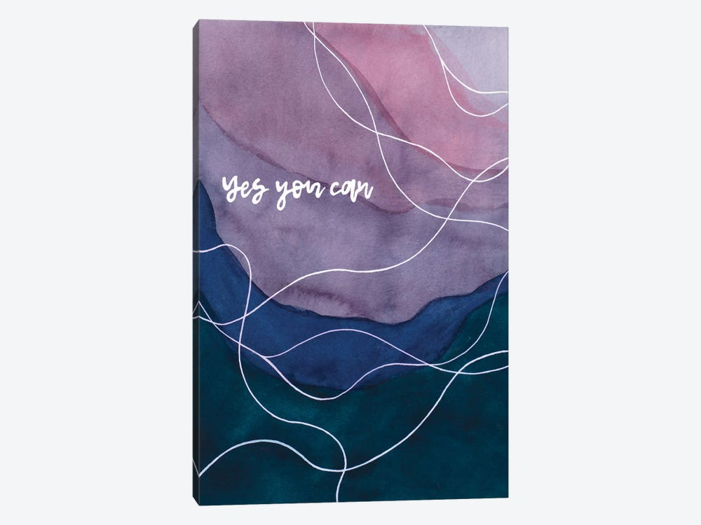 Yes You Can by Amaya Bucheli 1-piece Canvas Print