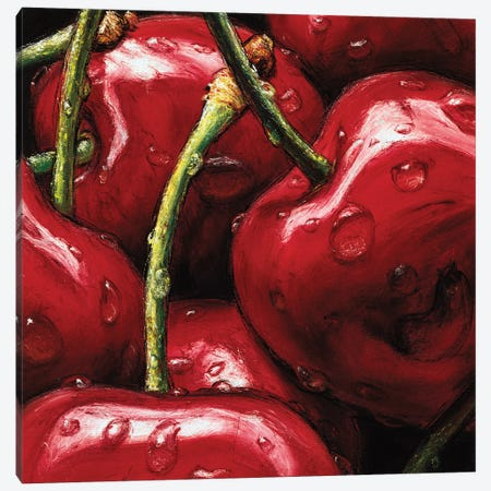 Cherries Canvas Print #AMC12} by AlmaCh Canvas Wall Art
