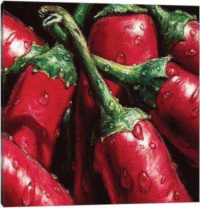 Hot Peppers Canvas Art Print