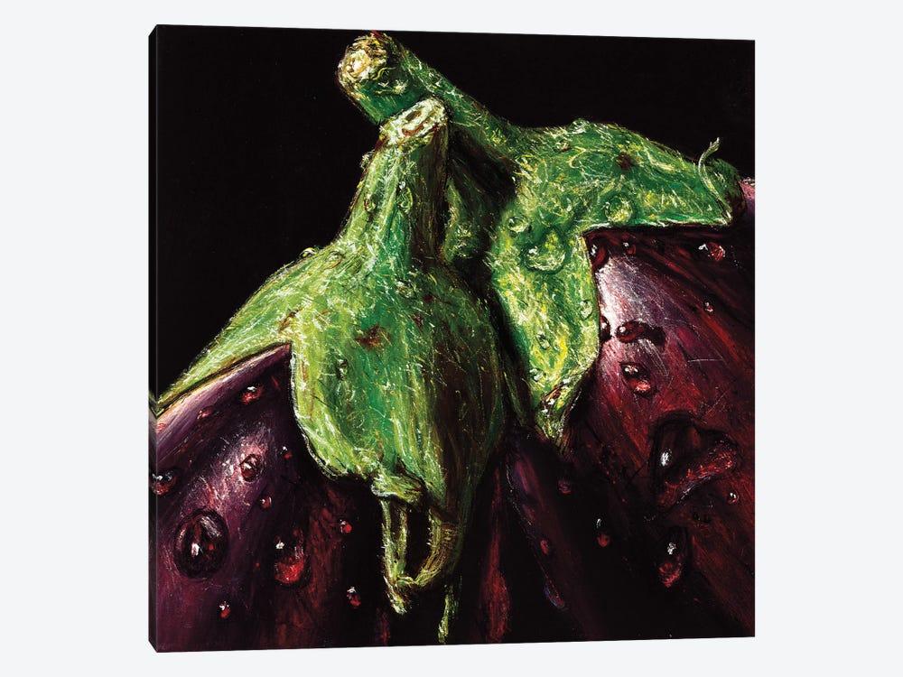Aubergines by AlmaCh 1-piece Canvas Wall Art