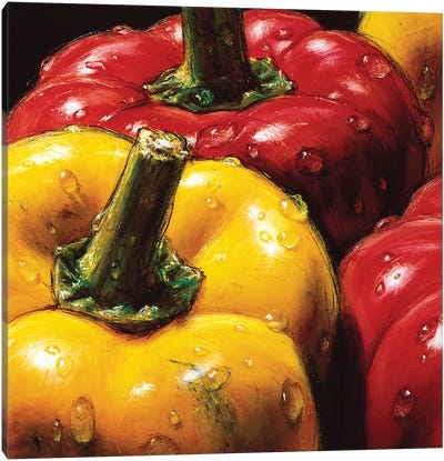 Peppers Canvas Art Print