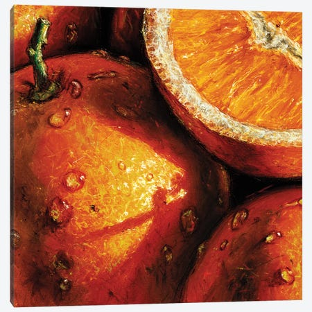 Oranges Canvas Print #AMC7} by AlmaCh Canvas Art Print