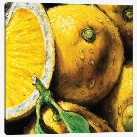 Lemons Canvas Print #AMC8} by AlmaCh Canvas Wall Art