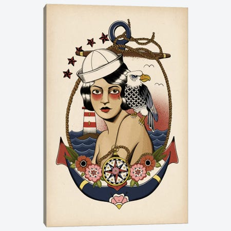 American Mermaid Canvas Print #AMCN3} by 5by5collective Canvas Print
