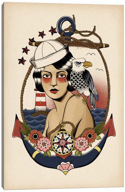 American Mermaid Canvas Art Print