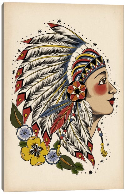 All American Girl Canvas Art Print