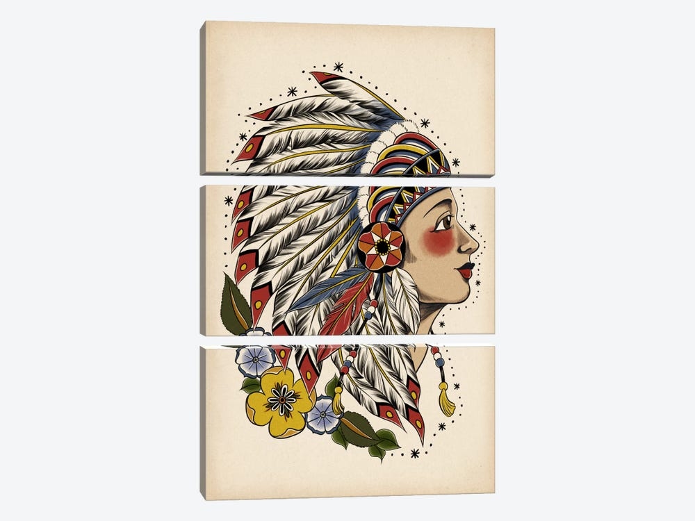 All American Girl by 5by5collective 3-piece Canvas Artwork