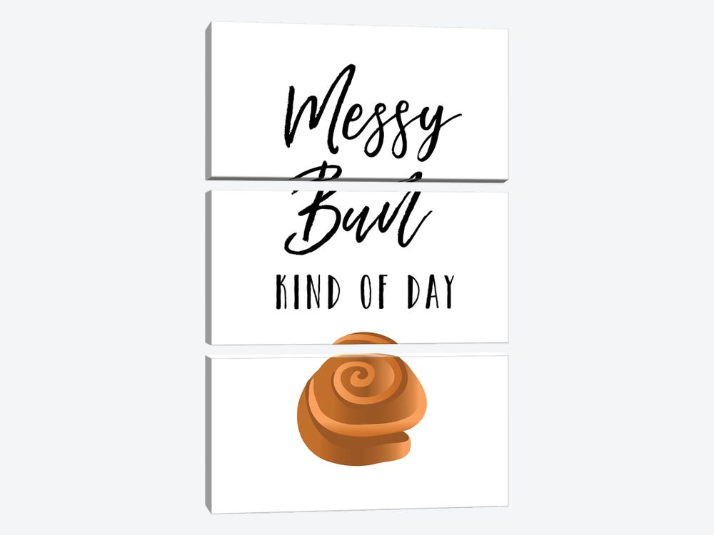 Messy Bun by Amanda Murray 3-piece Art Print