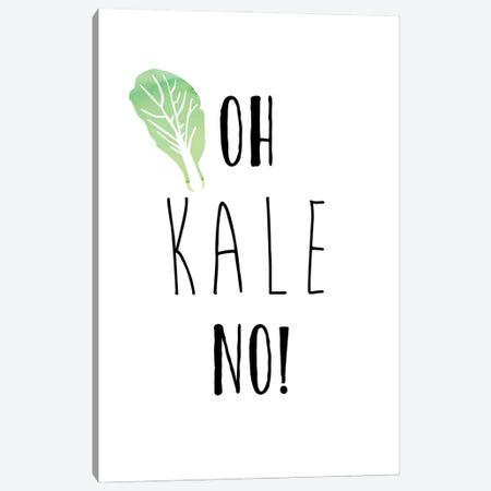 Oh Kale No Canvas Print #AMD104} by Amanda Murray Canvas Artwork