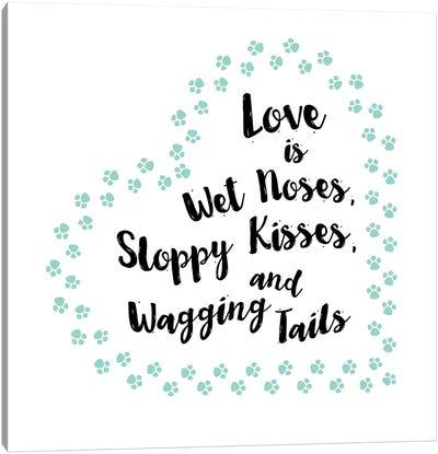 Sloppy Kisses Canvas Art Print