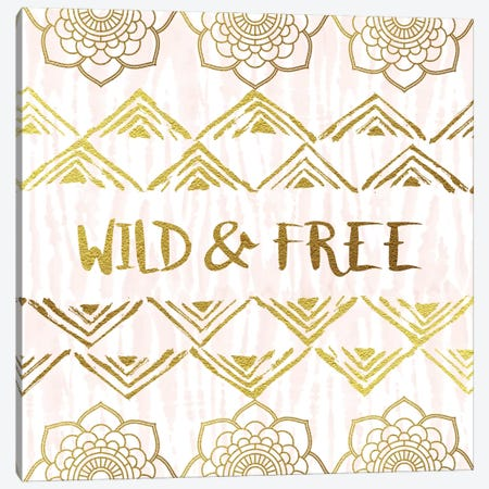 Wild & Free Canvas Print #AMD13} by Amanda Murray Canvas Art Print