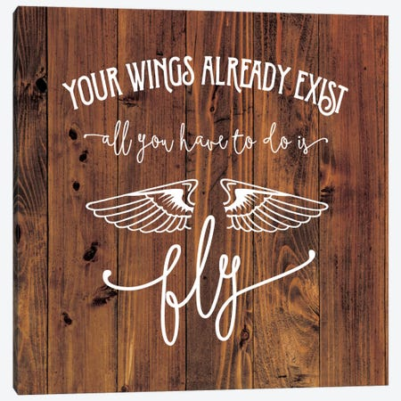 All You Have To Do Is Fly Canvas Print #AMD14} by Amanda Murray Canvas Wall Art