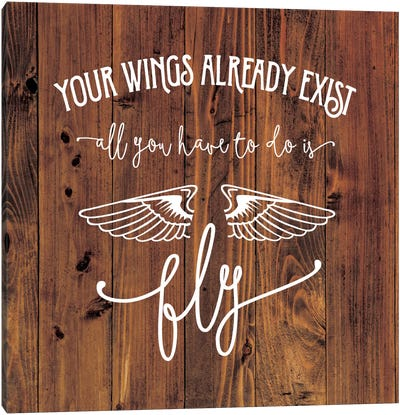 All You Have To Do Is Fly Canvas Art Print