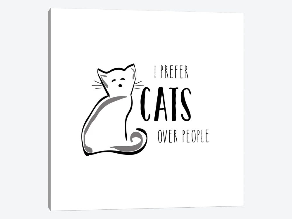Cats Over People by Amanda Murray 1-piece Canvas Wall Art