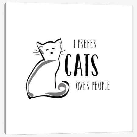 Cats Over People Canvas Print #AMD17} by Amanda Murray Canvas Art