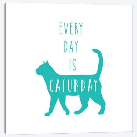 Caturday Canvas Print #AMD18} by Amanda Murray Canvas Print