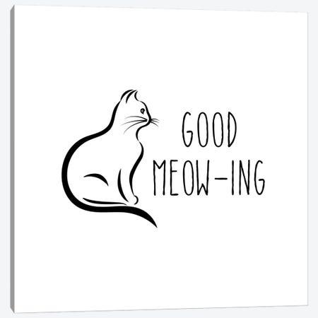 Good Meow-Ing Canvas Print #AMD22} by Amanda Murray Canvas Art