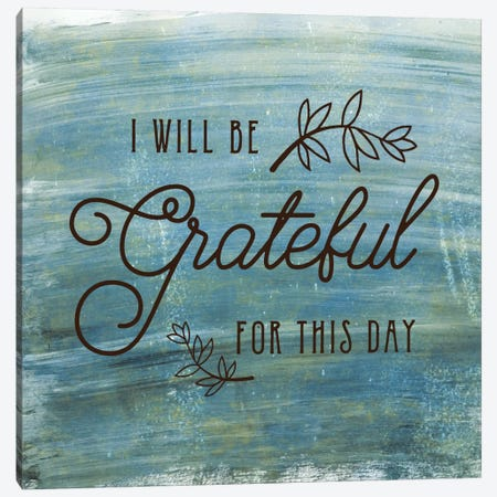 Grateful Canvas Print #AMD24} by Amanda Murray Art Print