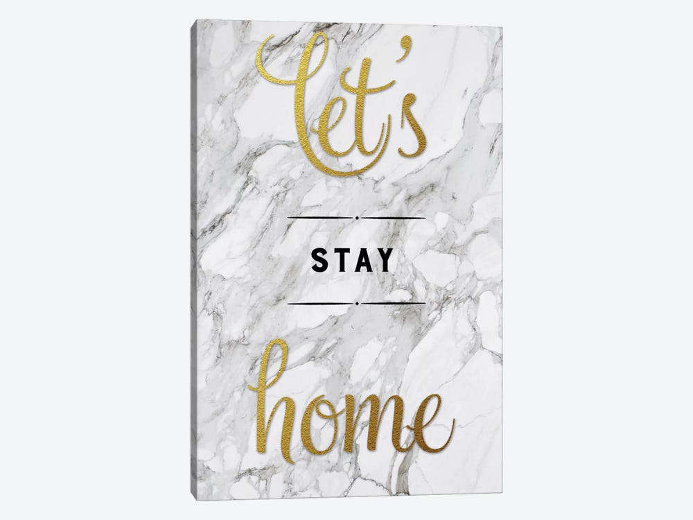 Let's Stay Home by Amanda Murray 1-piece Canvas Print