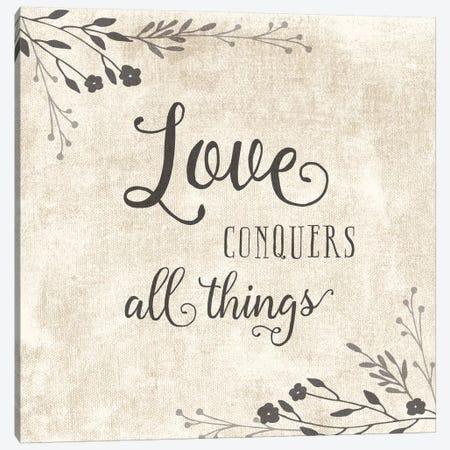Love Conquers Canvas Print #AMD31} by Amanda Murray Canvas Print