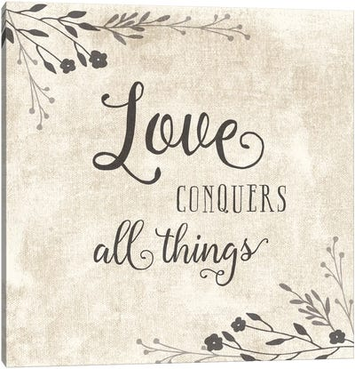 Love Conquers Canvas Art Print