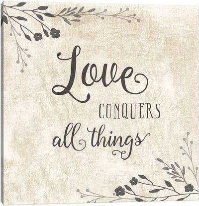 Love Conquers Canvas Art Print