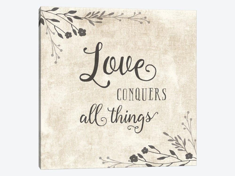 Love Conquers by Amanda Murray 1-piece Canvas Artwork
