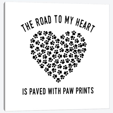 Paved With Paw Prints Canvas Print #AMD36} by Amanda Murray Canvas Wall Art
