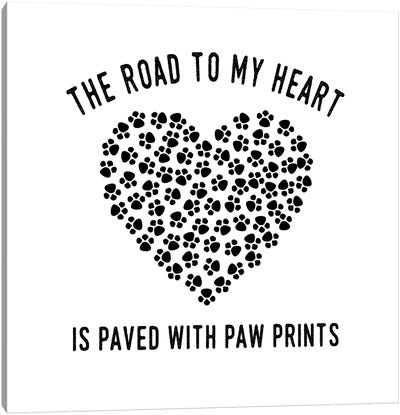 Paved With Paw Prints Canvas Art Print